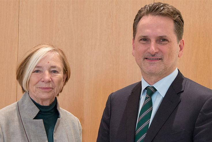 Ursula Männle begrüßte den UNRWA-Generalkommissar Pierre Krähenbühl in der Hanns-Seidel-Stiftung.