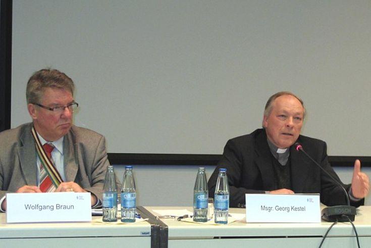 Wolfgang Braun und Msgr. Georg Kestel