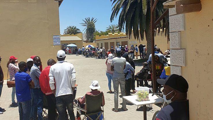 """Der namibische Präsident, Dr. Hage Geingob wertete den Ausgang der Regional- und Kommunalwahlen so: """"Unsere Mehrparteien-Demokratie hat Wurzeln geschlagen und wird erwachsen."""""""