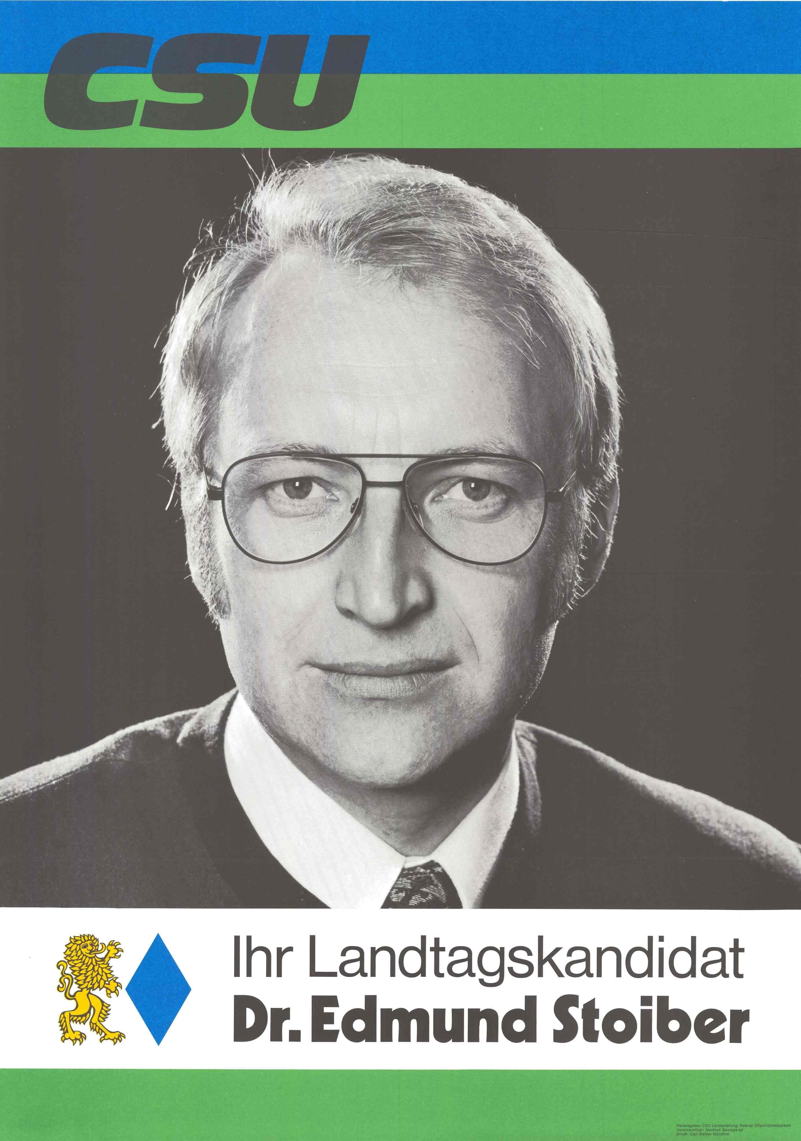 Plakat zur Landtagswahl 1974