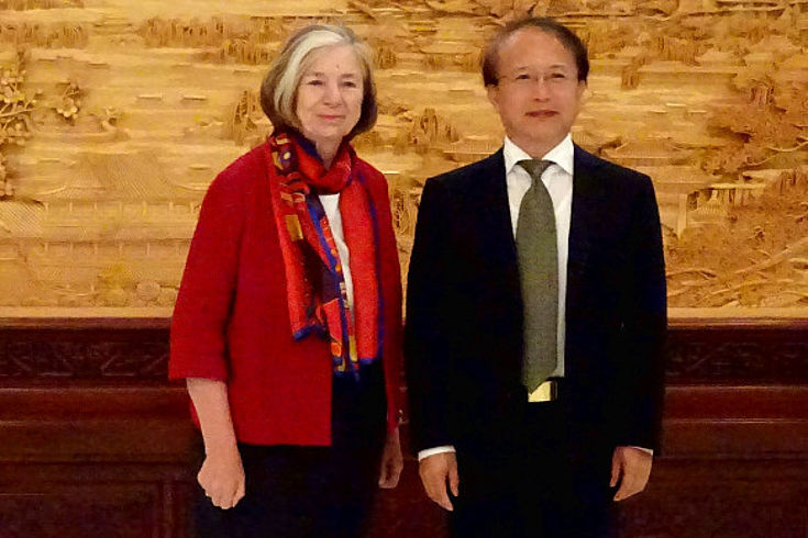 Ursula Männle und Zhao Changmao in der Zentralen Parteihochschule