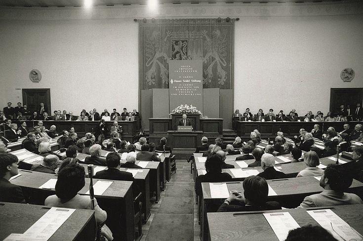 Festakt zum 25-jährigen Bestehen der Hanns-Seidel-Stiftung im Maximilianeum am 11. April 1992