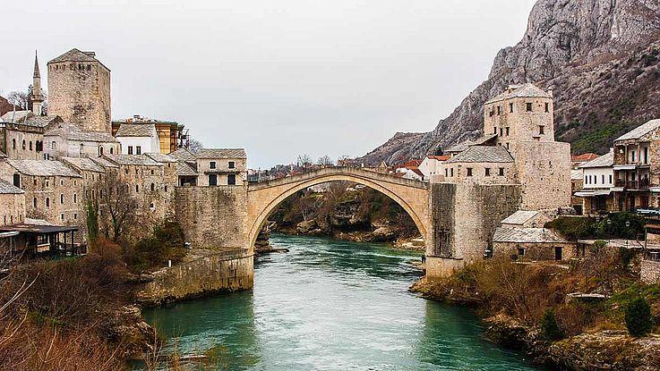 Altstadt-Brücke in Mostar (Bosnien und Herzegowina)