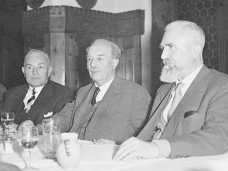 Hans Ehard, Wilhelm Hoegner und Alois Hundhammer (Foto: Harald Hoegner)