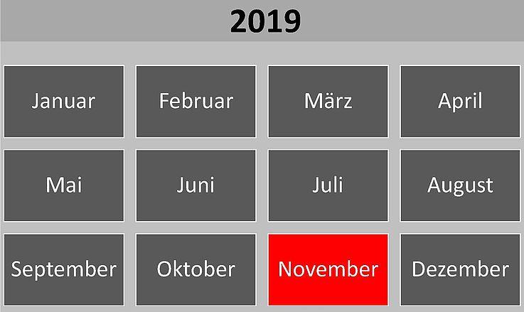 Historische Ereignisse im November 2019