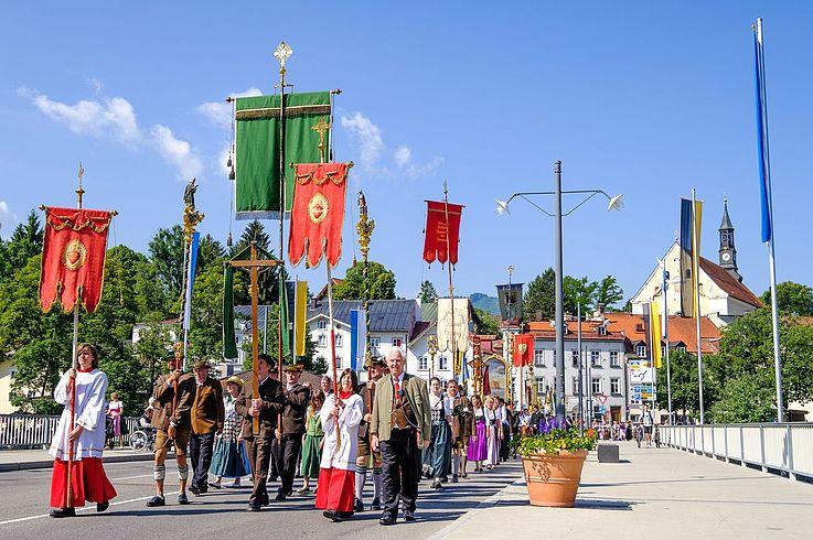 Prozession an Fronleichnam in Bad Tölz (2017)