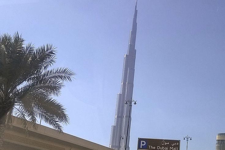 Der Wolkenkratzer Burj Khalifa in Dubai