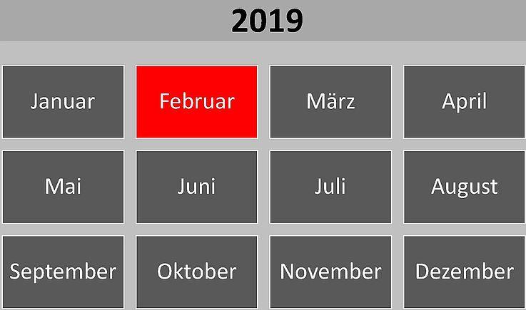 Historische Ereignisse und Gedenktage im Februar 2019