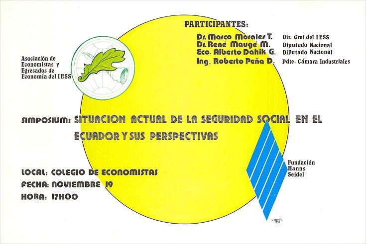 Plakat zum Symposium Hanns-Seidel-Stiftung in Ecuador
