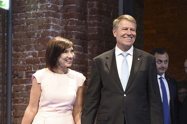 Klaus Johannis mit Ehefrau Carmen in München bei der Verleihung des Franz Josef Strauß-Preises 2018