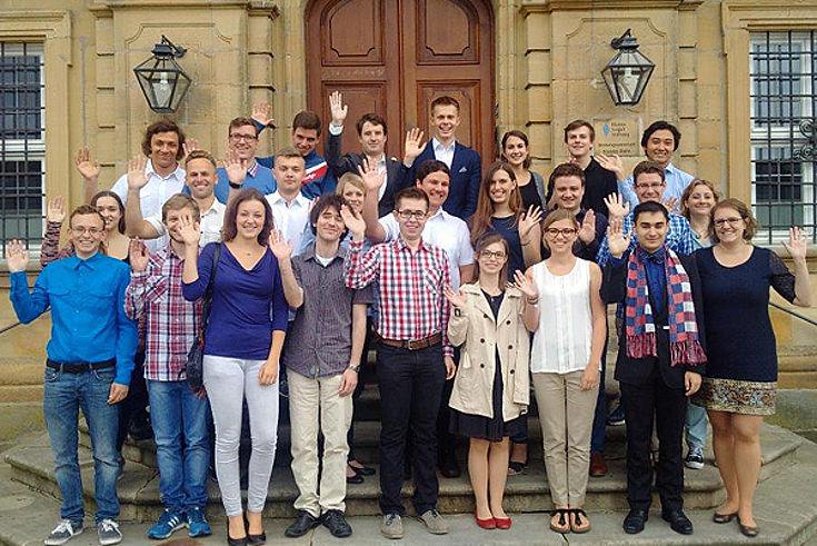 Die TeilnehmerInnen vor Kloster Banz