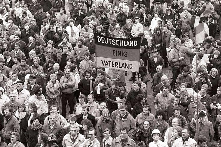 Parteitag der DSU am 18.2.1990 in Leipzig (Foto Winfried Rabanus)
