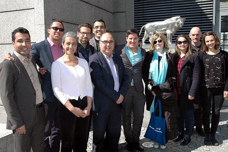 Marokkanische Delegation vor der HSS-Zentrale