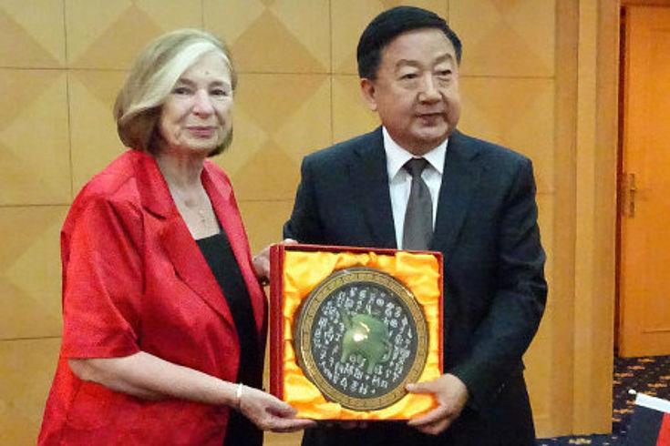 Ursula Männle im Gespräch mit Wang Shiyuan