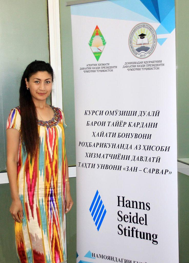 Gulafzo Muchammadieva nahm an der Weiterqualifikation durch die HSS erfolgreich teil.