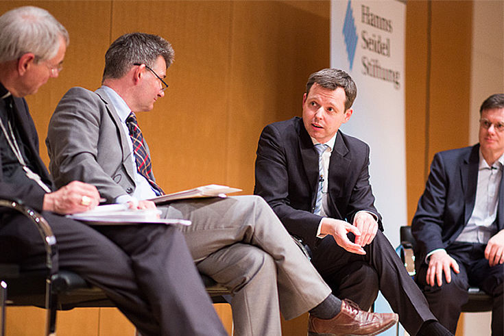 Thomas Silberhorn bei der Diskussion