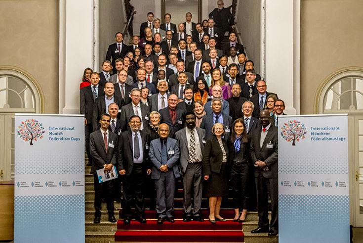 Über 70 Delegierte aus 20 Staaten fanden sich zum Auftakt der Veranstaltung im Bayerischen Landtag ein