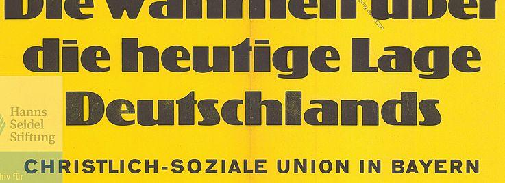 Plakat für die Landtagswahl 1950