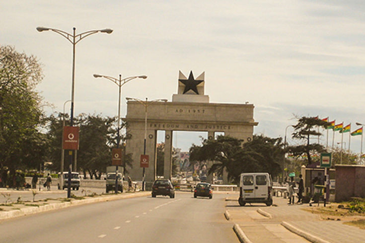 The Independence Square in Accra (Ghana)