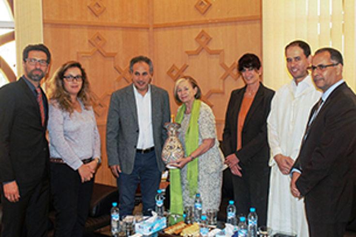 Vertreter des Regionalrates Marrakesch Safi informierten die Vorsitzende über ihre Aufgaben im Regionalrat