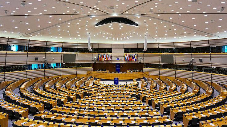 Ansicht des Brüsseler Parlaments