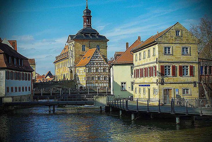Bamberger Gebäude am Fluss