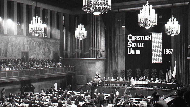 CSU-Parteitag 1967 im Deutschen Museum in München