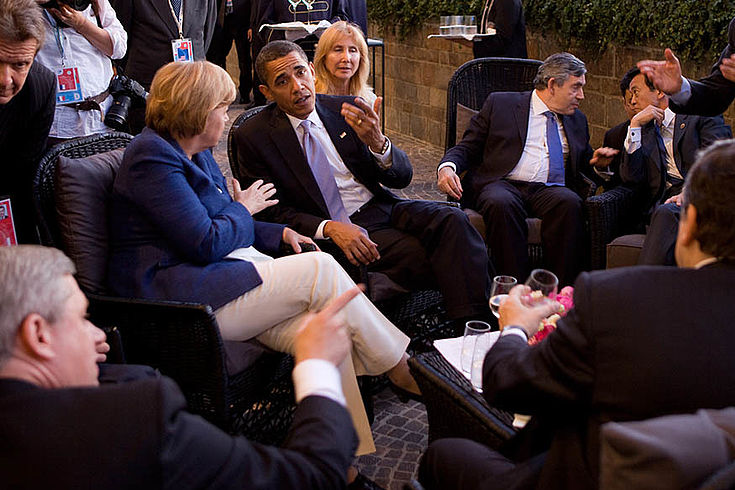 Der G8-Gipfel in L'Aquila 2009 setzte das Ziel, die Erderwärmung deutlich zu reduzieren.