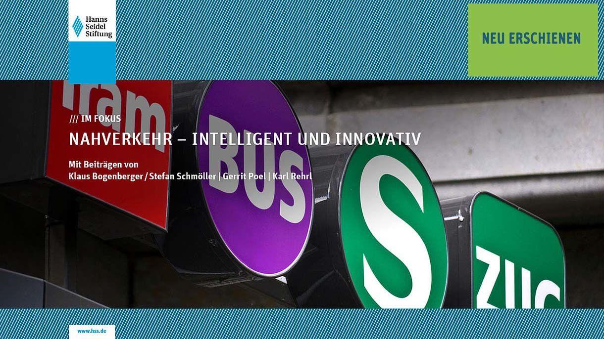 Logos Tram, Bus und S-Bahn im Hintergrund auf einem Zeitschriftencover