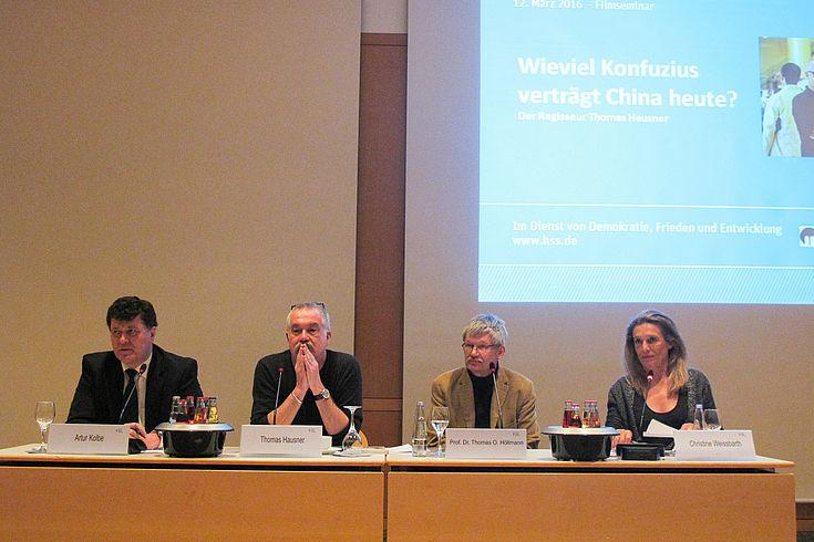 Artur Kolbe, Thomas Hausner, Professor Höllmann und Christine Weissbarth