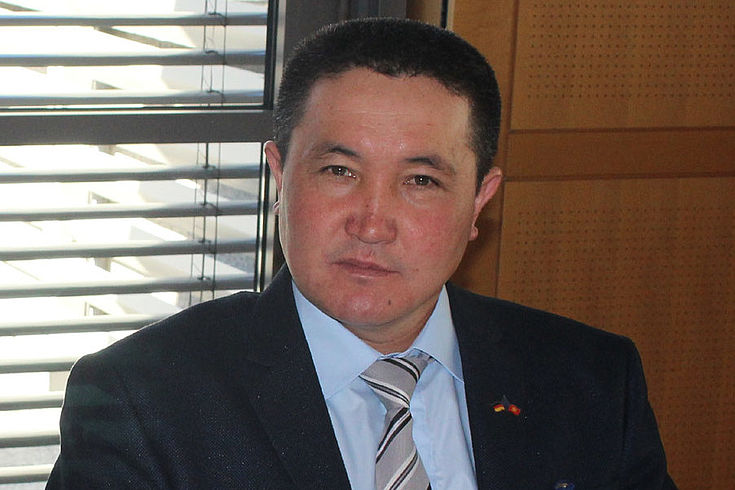 Mamyrbaev Kasymakun Musulovich, Bürgermeister der Gemeinde Utschkun in Kirgisistan.