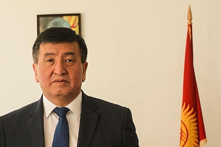 Der neugewählte Präsident Sooronbai Jeenbekov
