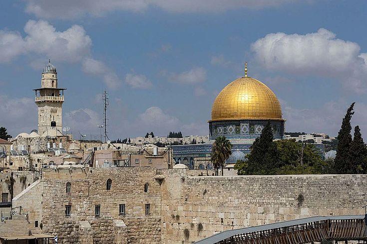 Ansicht von der Jerusalemer Altstadt