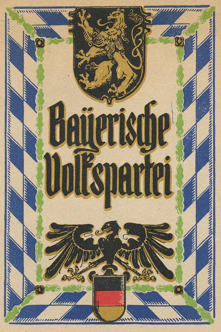 Mitgliedskarte Bayerische Volkspartei