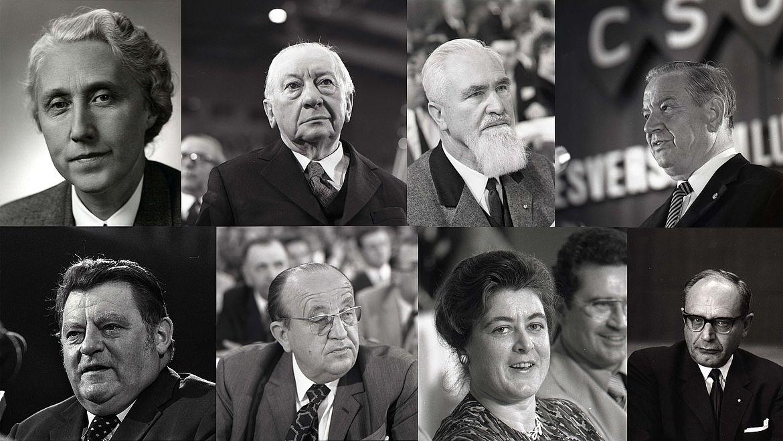 Maria Probst, Josef Müller, Alois Hundhammer, Alfons Goppel, Franz Josef Strauß, Hermann Höcherl, Mathilde Berghofer-Weichner, Richard Jaeger