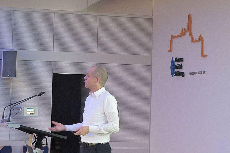 Prof. Holger Bonin hielt einen Vortrag über den Einfluss der Digitalisierung auf unsere künftige Arbeitswelt