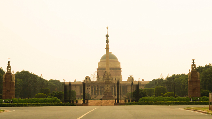 Der Präsidentenpalast (Rashtrapati Bhavan) in Neu-Delhi