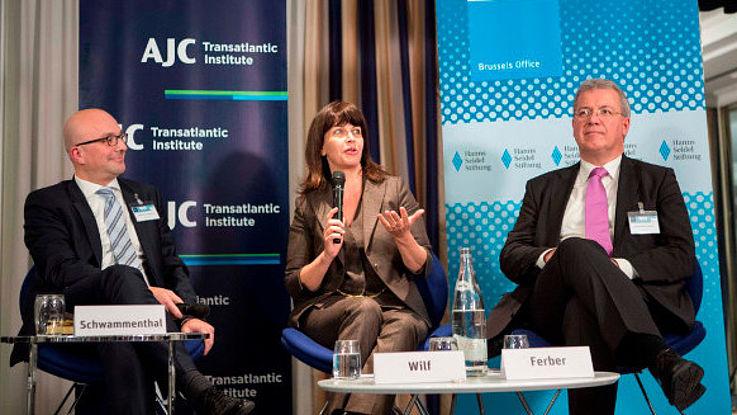 Daniel Schwammenthal, Einat Wilf und Markus Ferber
