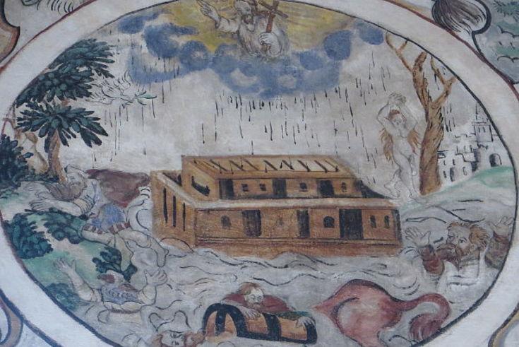 Darstellung der Sintflut in der Martinskapelle in Bürgstadt