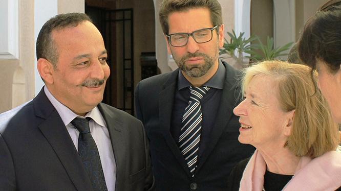 Der marokkanische Minister für Kultur und Kommunikation, Mohammed Laaraj nimmt an dem Jubiläum teil