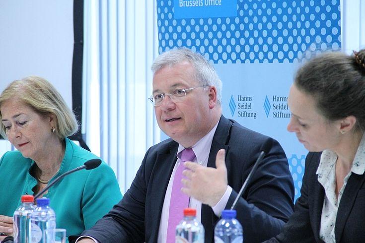 Markus Ferber zweifelt nicht an der proeuropäischen Haltung Macrons.