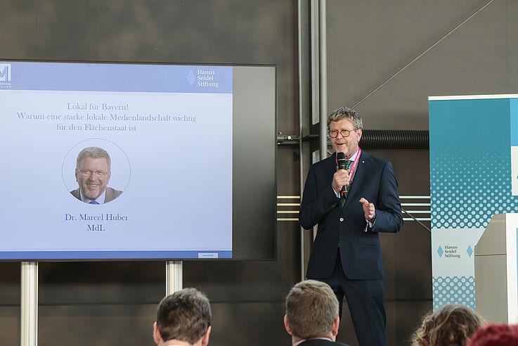 Dr. Marcel Huber, CSU, Vorsitzender des Medienausschusses der CSU-Fraktion im Landtag ...