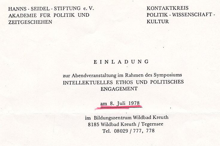 """""""Intellektuelles Ethos und poltisches Engagement"""""""