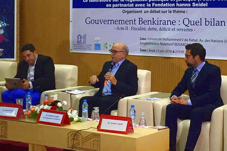 Diskussionsveranstaltung in Zusammenarbeit mit der Universität Mohammed V. Rabat zur Bilanz der Benkirane-Regierung