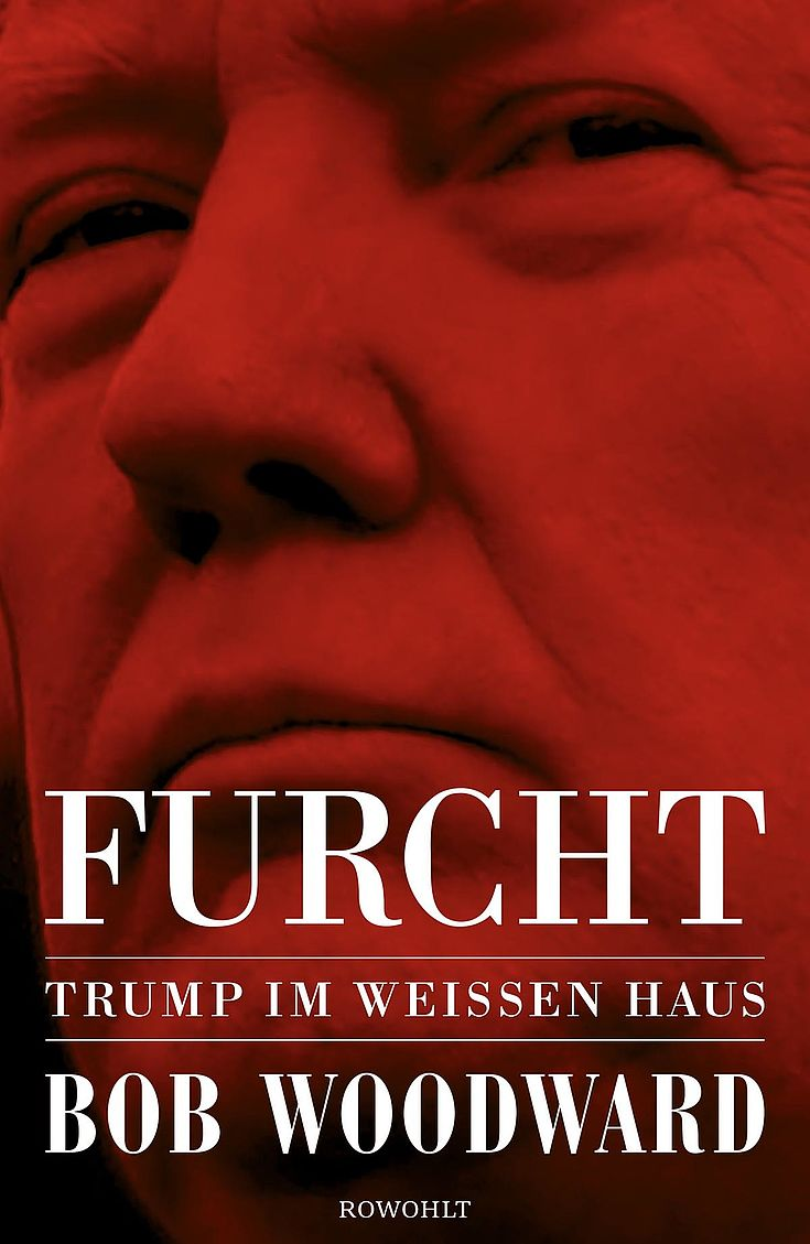 Das verschlagene Gesicht Donald Trumps. Zusammengekniffene Augen.