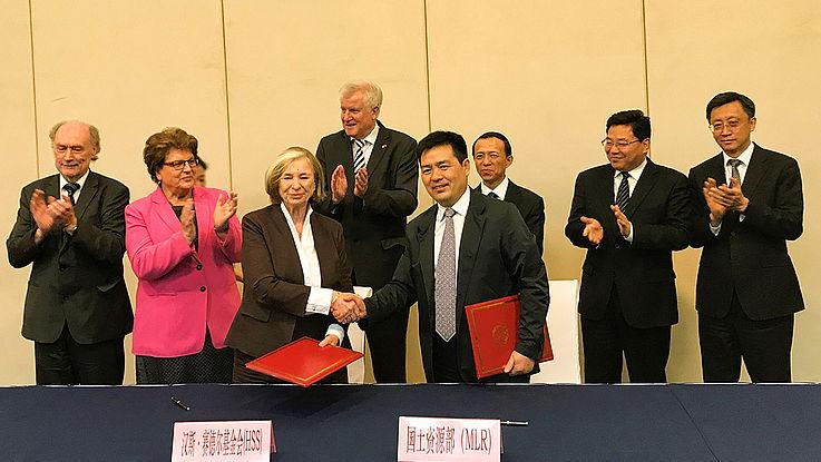 Unterzeichnung einer neuen Kooperationsvereinbarung zwischen der HSS und dem Ministerium für Land und Ressourcen