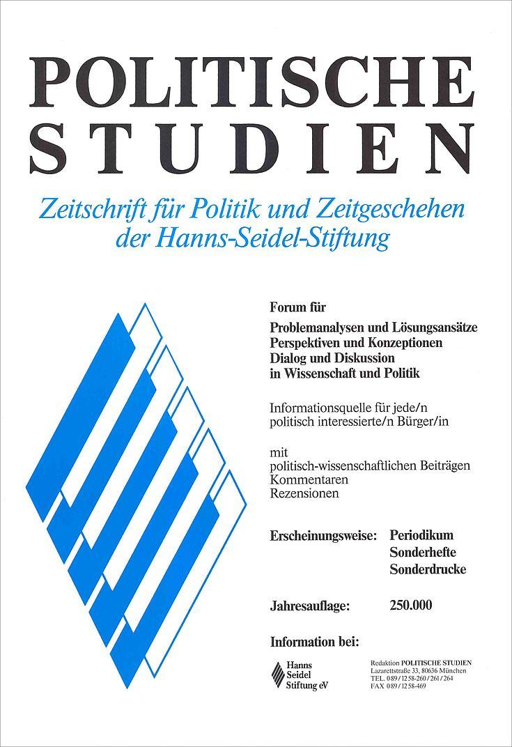 Plakat zu den Politischen Studien 1976