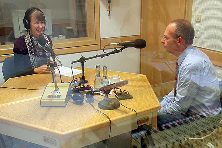 Interview mit Landrat Christian Meißner im Hörfunkstudio