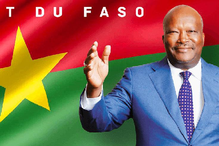 Wahlplakat mit Roch Marc Christian Kaboré