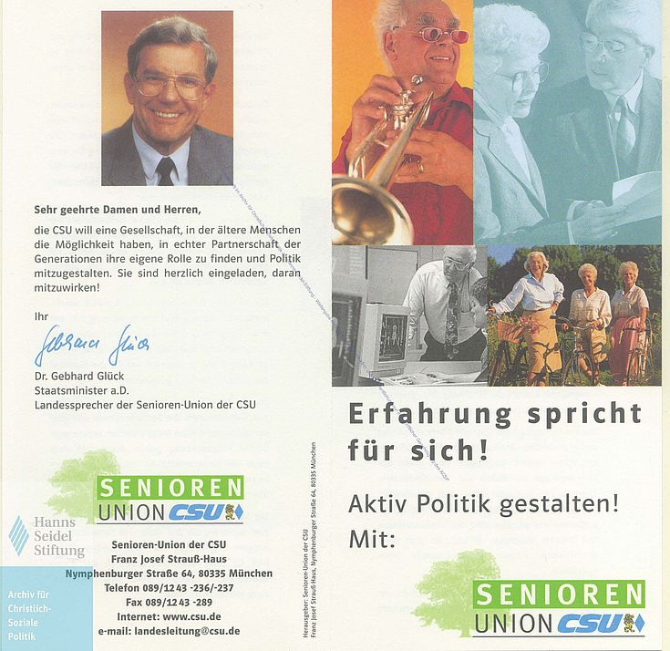 Mitgliederwerbung der Senioren-Union von 1998